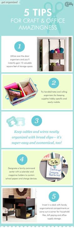 Office and craft room organization tips from #zulily! #organization #homeoffice