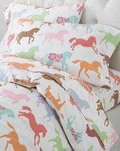 Shop Garnet Hill for the best kids' bedding. Our kids' bedding includes sheets, comforters, and duvet covers. Find quality kids' bedding for boys and girls. Horse Bedding, Girl Bedding, Queen Sheets, Painted Pony, Cotton Sheets, Percale Sheets, Comforter Cover, Little Girl Rooms, My New Room