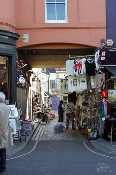 Portobello Market, Notting Hill London, England  (I used to shop here all the time!)