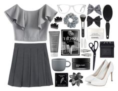 """""""Grey Gravel"""" by shehanisamara ❤ liked on Polyvore featuring NARS Cosmetics, Chanel, TokyoMilk, Koh Gen Do, Full Tilt, Living Proof, Dorothy Perkins, CB2, Natasha Couture and Muse"""