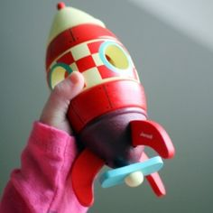 Have & love this Janod rocket - wooden with magnetic stacking sections