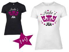 T-Shirts mit Print - JGA Shirt Braut+Security Set Krone - ein Designerstück von DoppelD-Druck-Design bei DaWanda