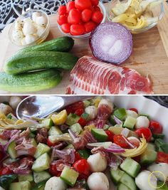A fresh and colorful antipasta salad on the blog, gluten free too!!