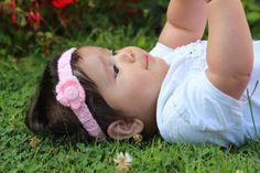 Hand Knitted Baby Headband by SapphiraDesignsKnits on Etsy