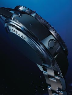 The helium escape valve, here on the Rolex Deepsea, allows helium to be safely released from the case of a saturation divers' watch during decompression.