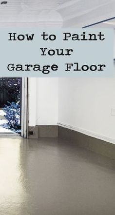 Painting your garage floor is an easy way to spruce up your garage or create more living space in your home. Finally, there is room for that man cave! The first step is to purchase high quality paint or epoxy that is specifically designed for concrete. This is really important, ….