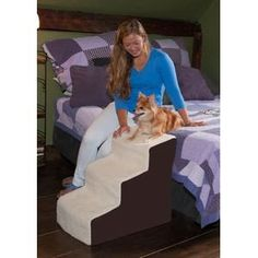 The Easy Step III Deluxe Soft Dog or Cat Steps comes in a beautiful Oatmeal color . The steps to give smaller dogs the ability to get their entire body on the bed. Dog Steps For Bed, Cat Steps, Modern Cat Furniture, Pet Furniture, Animal Design, Dog Design, Dog Stairs, Dog Beds For Small Dogs, Pet Gear