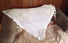 Gorgeous Vintage Crochet Women's Wrap Shawl Shabby Chic Winter White STUNNING  | eBay