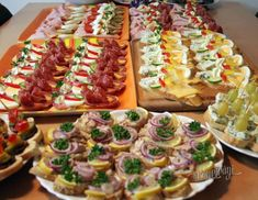 Chlebíčky, kanapky a chuťovky Cold Appetizers, Appetizer Recipes, Snack Recipes, Cooking Recipes, Snacks, Great Recipes, Favorite Recipes, Austrian Recipes, European Cuisine