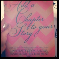 "cute recruitment saying Turn it into a book theme  ""Add a page to our story""  "" join in on our story"""