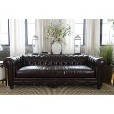 Shop Elements Fine Home Furnishings  EST-S-SADD-1 Estate Leather Sofa at ATG Stores. Browse our sofas & loveseats, all with free shipping and best price guaranteed.
