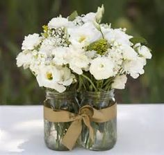 western wedding centerpieces in mason jars - Bing Images