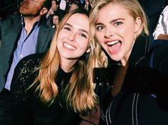 zoey and chloe grace moretz at the DNC