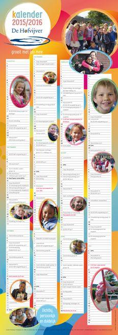 Schoolkalender voor Basisschool De Hofvijver uit Zoetermeer 2015 - 2016