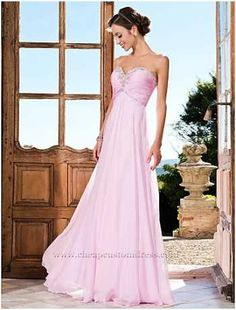 Pink Draped A-line Sweetheart Sequins Long Bridesmaid Dress : Cheapcustomdress.com