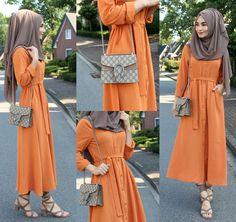 Ich trage zum ersten mal Orange  Gelb und Orange sind eig. meine NO GO Farben aber bei diesem Kleid habe ich ein Auge zugedrückt und mich verliebt ❤️ Dress / Kleid / Elbise - misselegance.de Hijab / Kopftuch / Basörtü - MEDINE HIJAB DELUXE NR. 27 (www.misselegance.de)