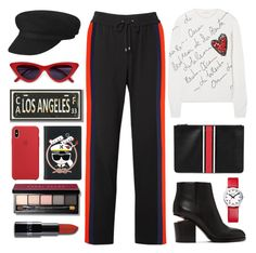 """""""Be Red Black"""" by pure-vnom ❤ liked on Polyvore featuring Kenzo, Oscar de la Renta, Givenchy, Alexander Wang, PBteen, Karl Lagerfeld, Mondaine, Bobbi Brown Cosmetics and Leather"""