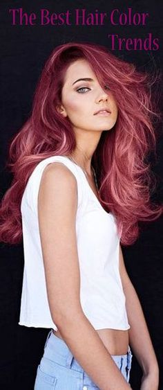 Spring 2019 hair color trends are chic, fun, bold, sassy, and a statement piece that a lot of woman love to play with. Let's dive into these hair colors that's been on trend for the spring of why don't we! (Click my link) Spring Hairstyles, Trending Hairstyles, Cool Hairstyles, Scene Hairstyles, Fashion Hairstyles, Hair Color Pink, Cool Hair Color, Pinkish Red Hair, Raspberry Hair Color