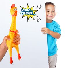 HAKOL Squeaking Chicken Toy for Kids and Pets  Rubber Squawking and Shrieking 16'' Toy for Hours of Fun * Click picture to review even more information. (This is an affiliate link). #truck