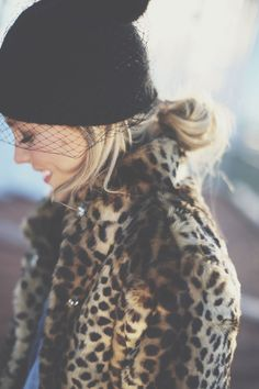A little bit of '40s-inspired leopard glamour.