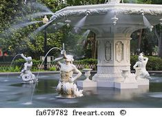 Savannah, Georgia, USA at Forsyth Park Fountain. Free art print of Forsyth Park. Savannah Georgia, Savannah Chat, Grand Canyon River, Fountain City, Forsyth Park, Free Art Prints, Tybee Island, Travel Deals, State Parks