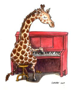 "Mr. G. Raffe playing a song for his sweetheart! ❤ ""I love your big eyes, I love your big spots..."""