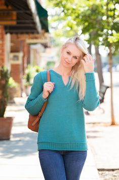 Knitting Pattern by Sue McCain for Basix Knitting Body Shapes, Knitting Patterns, Classy, Pullover, Stitch, Sleeves, Sweaters, Tops, Fashion