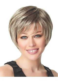 Delicate Short Straight Hand Tied Full Lace 100% Human Hair Perfect Wig