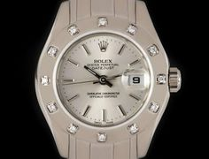 Rolex Pearlmaster Datejust Ladies White Gold Silver Dial Diamond Set B&P 80319 Oyster Perpetual, Rolex Datejust, Rolex Watches, White Gold, Diamond, Silver, Money, Diamonds