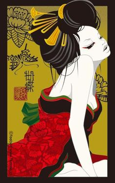 Art of Feebee. for visitors restroom Japanese Pop Art, Japanese Artists, Art And Illustration, Fantasy Kunst, Fantasy Art, Asian Wall Art, Dope Art, Country Art, Japan Art