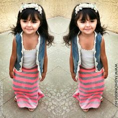 Little maxi skirt and vest. Adorable!!