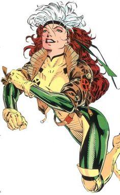 Rogue - Jim Lee. My favorite female super hero! X-Men comic. Old school Rogue. Love her!!!!!