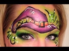 Witch Hat Face Painting