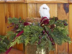 Werner Tree Farm owl centerpiece