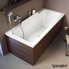 Duravit DuraStyle Rechteck-Badewanne, Einbauversion oder Wannenverkleidung, mit Rückenschräge rechts