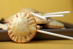 Pie Pop by Bakerella, via Flickr  I bet you this would also be wonderful as an appetizer with a Veggie pot pie filling :)
