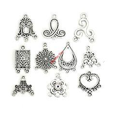 Gemengde Connector Charms Antiek Verzilverd Hangers voor Sieraden Maken Accessoires Craft DIY Handgemaakte Sieraden Bevindingen