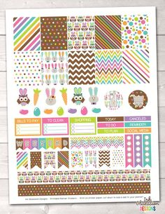 Easter Printable Planner Stickers Weekly Kit – Instant Download PDF for your Erin Condren Life Planner