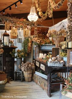 Fall Window 2014 full of great fall finds - Stop in! Retail window ideas. Retail fall decorating ideas.