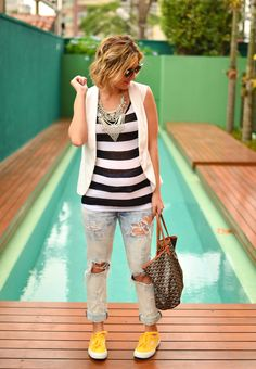look do dia - grávida - casual - keep a secret blog - listras - lili paiva