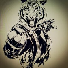 Finished Tiger inks.. onwards to coloring