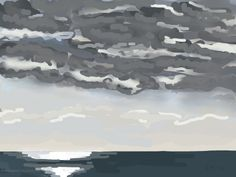 Danny Mooney 'Ominous clouds, 20/10/2014' iPad painting #APAD