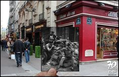 Nostalgic Then-And-Now Photographs Show The Liberation Of Paris From Nazi Forces by Parisian photographer Julien Knez