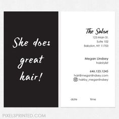33 Best Hairstylist Business Cards Images Beauty Salons Bridal
