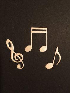 Fustellati NOTE Musicali e CHIAVE di VIOLINO - Abbellimenti , Scrapbooking, Creazione di Biglietti, Decorazioni, Cartonnage, Bomboniere