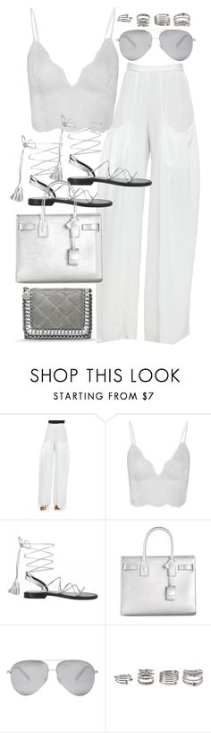 """""""Untitled #19819"""" by florencia95 ❤ liked on Polyvore featuring Alice + Olivia, Anine Bing, Yves Saint Laurent, Victoria Beckham, Forever 21 and STELLA McCARTNEY"""