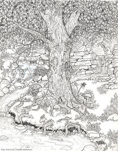 Because I like to color! FAIRY GARDEN COLORING PAGE.