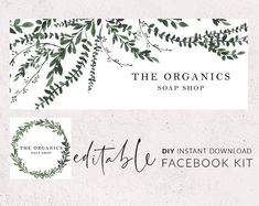 Facebook cover photo template, DIY Facebook banner, Facebook cover, Greenery facebook timeline, Facebook template, Facebook icon, Ivy leaves by DesignsForMakers Facebook Cover Photo Template, Facebook Timeline, Facebook Banner, Text Layout, Delete Image, Social Media Graphics, Best Face Products, Inevitable, Cover Photos