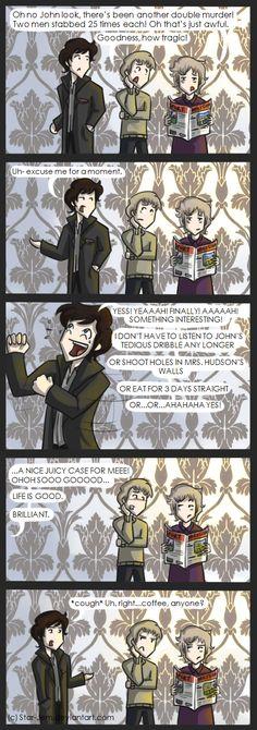 Life is good for Sherlock by ~Star-Jem on deviantART Brilliant