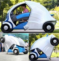 Foldable electric vehicle